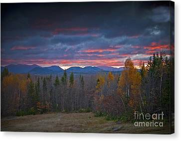 Canvas Print featuring the photograph Moosehead Sunset by Alana Ranney