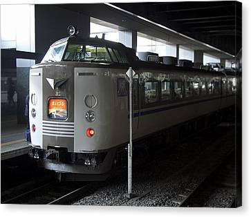 Maizuru Electric Train - Kyoto Japan Canvas Print by Daniel Hagerman