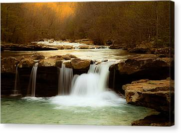 Majestic Waterfalls Canvas Print by Iris Greenwell
