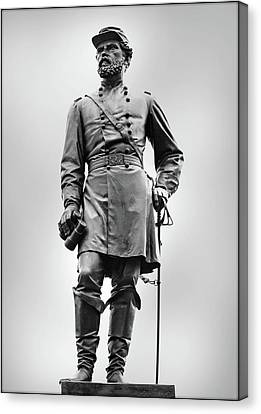 Major General John Reynolds Statue At Gettysburg Canvas Print by Randy Steele