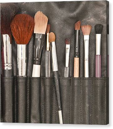 Make Up Brushes Canvas Print