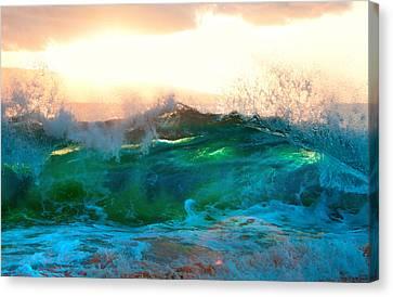 Michael Sweet Canvas Print - Makena Sunset Wave by Michael Sweet