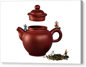 Making Green Tea On A Clay Teapot Canvas Print by Paul Ge