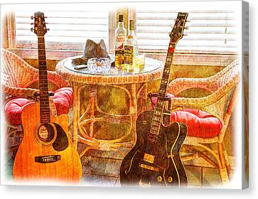 Making Music 003 Canvas Print by Barry Jones