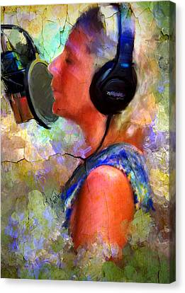 Canvas Print featuring the painting Making Music by Robert Smith