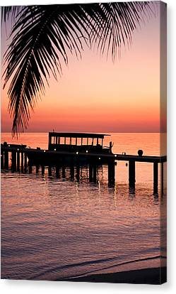 Canvas Print featuring the photograph Maldives Sunrise by Shirley Mitchell