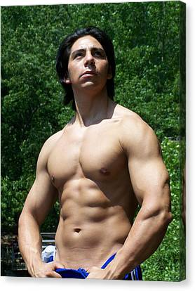 Male Latino Muscle Canvas Print by Jake Hartz