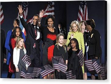 Barack Obama Canvas Print - Malia Obama, U.s. President Elect by Everett