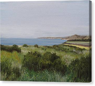 Malibu Bluffs Canvas Print by Cristin Paige