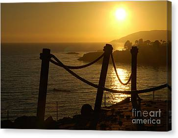 Malibu Sunset Canvas Print by Micah May