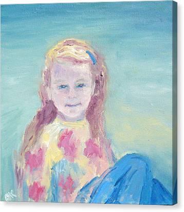 Malve Portrait Canvas Print by Barbara Anna Knauf