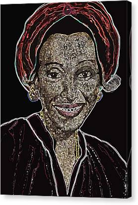 Mama Nura Canvas Print by Duwayne Washington