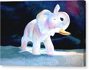 Canvas Print featuring the painting Mama's White Elephant by Sharon Mick