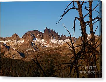 Mammoth Mountain California And Devils Postpile National Monument With Spires Canvas Print by ELITE IMAGE photography By Chad McDermott