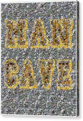 Man Cave Coin Mosaic Canvas Print by Paul Van Scott