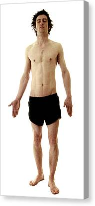 Man In Boxer Shorts Canvas Print by Neal Grundy