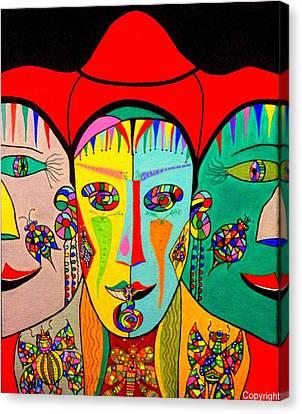 Man In Reverse II Canvas Print by Marie Schwarzer