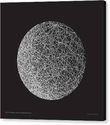 Man In The Moon-shape Canvas Print by Michael Landa