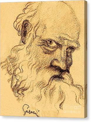 Painted Details Canvas Print - Man Portrait by Odon Czintos