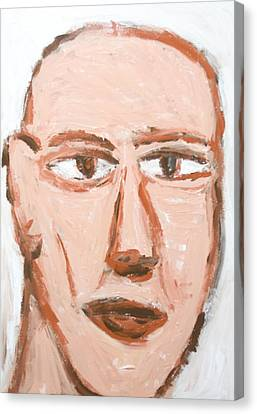 Man With A Scar On His Face Canvas Print by Kazuya Akimoto