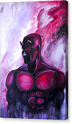 Man Without Fear  Canvas Print by Chris  Leon