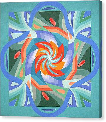 Canvas Print featuring the painting Mandala by Rachel Hames