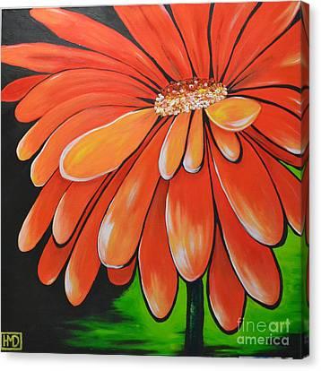 Mandarin Orange Canvas Print by Holly Donohoe