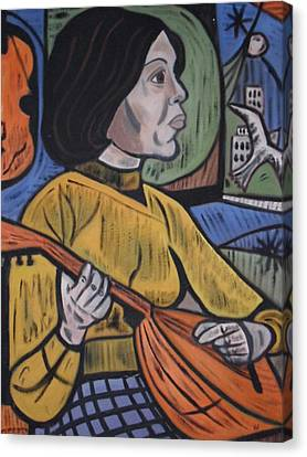 Mandolin Girl Canvas Print