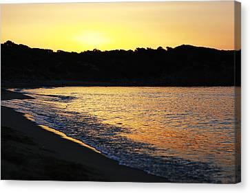 Mandraki Elias Beach Sunset Skiathos Canvas Print by Nick Karvounis
