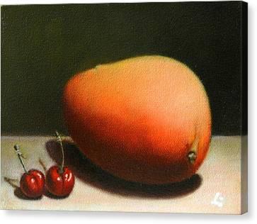 Mango And Cherries, Peru Impression Canvas Print