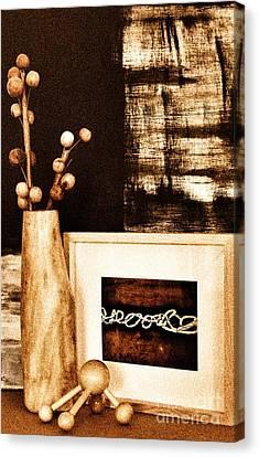Mangowood Vase In Decor Canvas Print