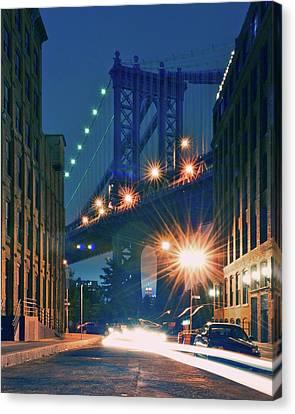 Long Street Canvas Print - Manhattan Bridge by Thomas Kurmeier