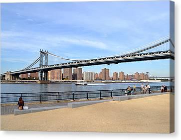 Manhattan Bridge1 Canvas Print by Zawhaus Photography