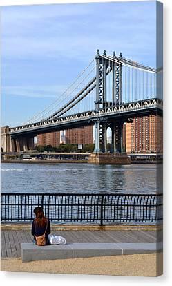 Manhattan Bridge2 Canvas Print by Zawhaus Photography