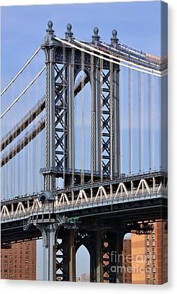 Manhattan Bridge3 Canvas Print by Zawhaus Photography