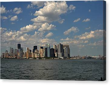 Manhattan Canvas Print by Diane Lent