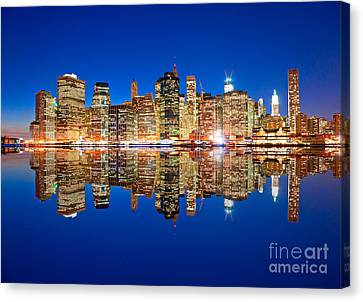 Canvas Print featuring the photograph Manhattan by Luciano Mortula