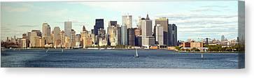 Manhattan Skyline Panarama Canvas Print