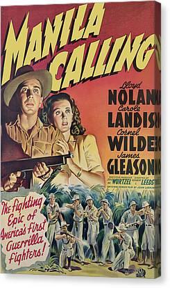 Manila Calling, From Left, Lloyd Nolan Canvas Print by Everett