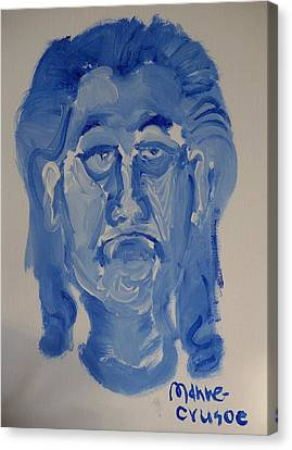 Manne-crusoe Blue Canvas Print by Jay Manne-Crusoe