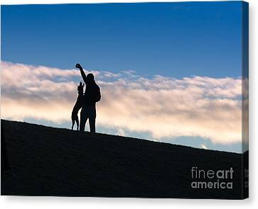 Canvas Print featuring the photograph Mans Best Friend by Andrew  Michael