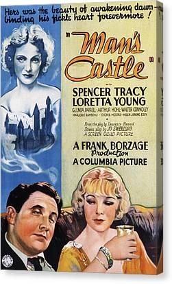 Mans Castle, Spencer Tracy, Loretta Canvas Print by Everett