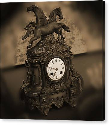 Mantel Clock Canvas Print by Mike McGlothlen