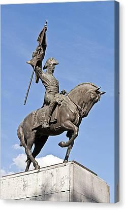 Manuel Belgrano Statue. Canvas Print by Fernando Barozza