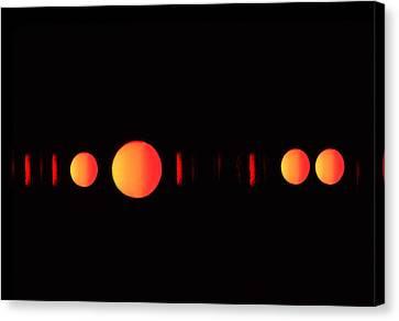 Many Suns Canvas Print by Al Hurley