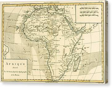 Map Of Africa Canvas Print by Guillaume Raynal