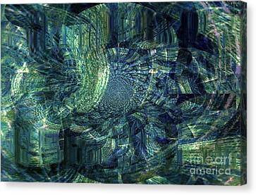 The Followers Canvas Print - Map Of Life's Journey by Fania Simon