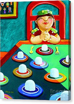 Marami Ka Pang Kakaining Bigas Canvas Print by Paul Hilario