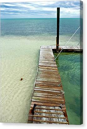 Marathon Dock Florida Keys Canvas Print