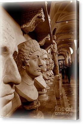 Canvas Print featuring the photograph Marble Busts. Vatican by Tanya  Searcy